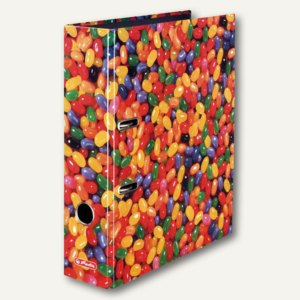 "Herlitz Motivordner maX.file World of Fruits ""Jelly Beans"", A4, 80 mm, 10507788"