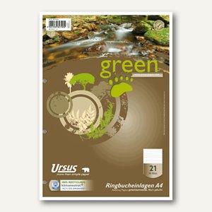 Ursus Green Ringbucheinlagen, DIN A4, 70 g, liniert, 50 Blatt, 040470021