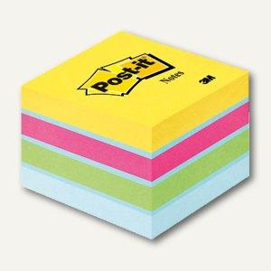 Post-it Haftnotizwürfel Mini, 51 x 51 mm, 400 Blatt, ultrafarben, 2051-U