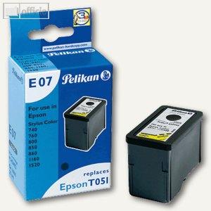 Pelikan Tintenpatrone E07, schwarz, 342492