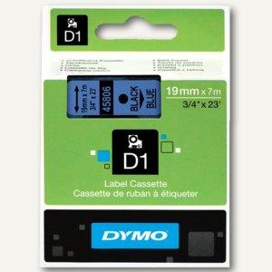 Dymo Etikettenband , 19 mm x 7 m, weiß auf transparent, 45810