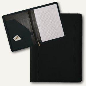 Alassio Schreibmappe VALLO, DIN A4, Nappaleder, schwarz, 30091