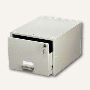 Durable Karteikasten, für Format 170 x 235 mm, grau, abschließbar, 3355-10