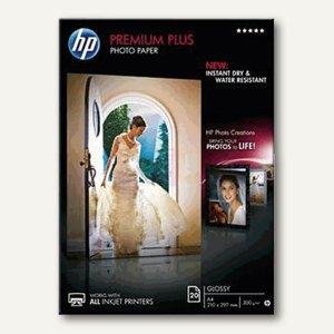 """HP Fotopapier """"Premium Plus"""", DIN A4, glossy, 300 g/m², 20 Blatt, CR672A"""