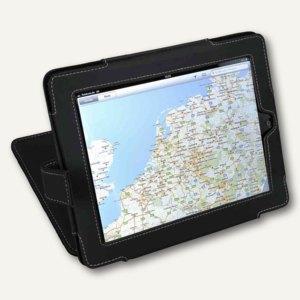 Alassio iPad Hülle, Aufsteller, Druckknopf, Lederimitat, schwarz, 41100