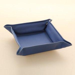 Alassio Utensilienschale EMILIA, Lederimitat, blau, 40012