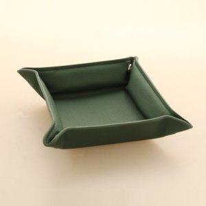 Alassio Utensilienschale EMILIA, Lederimitat, grün, 40015