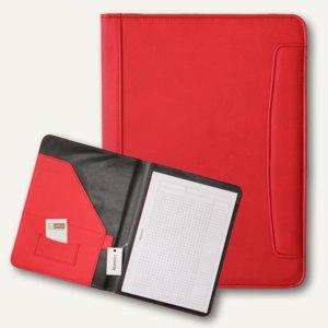 Alassio Schreibmappe MESSINA, DIN A4, Lederimitat, rot, 30083
