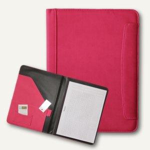 Alassio Schreibmappe MESSINA, DIN A4, Lederimitat, rosa, 30087