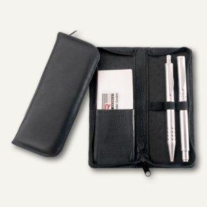 Alassio Reißverschluss-Stiftetui für 3 Stifte, schwarz, 2603