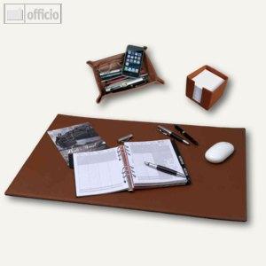 alassio schreibtisch set leder cognac 85041. Black Bedroom Furniture Sets. Home Design Ideas