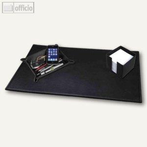 alassio schreibtisch set leder schwarz 85040. Black Bedroom Furniture Sets. Home Design Ideas
