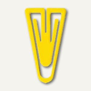 Laurel Büroklammern Kunststoffklips, dreieckig, 35 mm, gelb, 1000 Stück, 1309-70