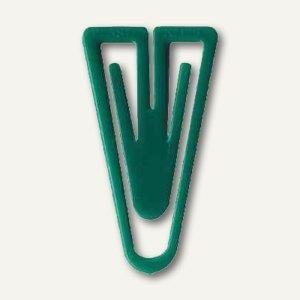 Laurel Büroklammern Kunststoffklips, dreieckig, 25 mm, grün, 500 Stück, 0113-60