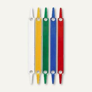 Laurel Heftstreifen, PP, 8.5 x 85 mm, farbig sortiert, 100 Stück, 1830-95
