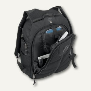 Lightpak Laptop Rucksack SAFEPAK, Nylon, schwarz, 46053