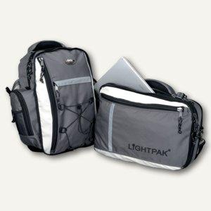 Lightpak Laptoprucksack VANTAGE, Nylon, grau, 46077
