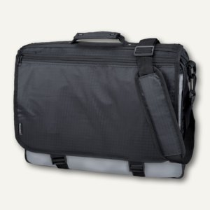 Lightpak Messengerbag WAVE, Polyester, schwarz/grau, 46069