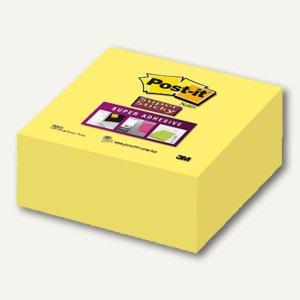 Post-it Notes Super Sticky, gelb, 76 x 76 mm, Block á 350 Blatt, 2028-S