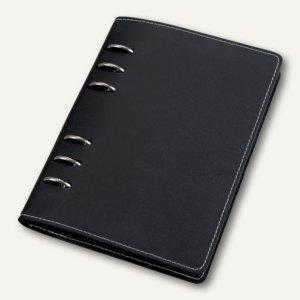 bind Systemplaner DIN A6, 1 Wo = 2 S, inkl. Kalender, Leder, schwarz, 10603