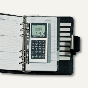 Artikelbild: abheftbarer Digital-Rechner mit Weltzeituhr