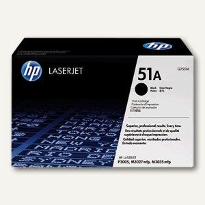 HP Toner 51A schwarz - ca. 6.500 Seiten, Q7551A