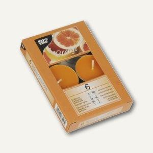 Papstar Duftlichter, Ø 38 mm, H 16 mm, orange - Orange, 54er-Pack, 83247