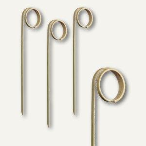 """Papstar Fingerfood - Spieße """"Twister"""", L 11 cm, Bambus, 600er-Pack, 81007"""