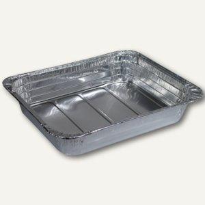 Papstar Gastronorm-Behälter, Alu, 3.4 l, Gastro-Norm 1/2, 30 Stück, 14533