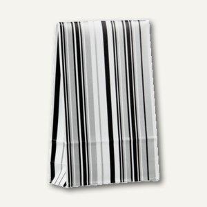 """Geschenktaschen """"Stripes black&white"""" groß, 33 x 20 x 6.5 cm, 200St., 81497"""