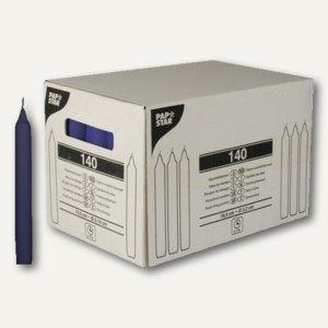 Papstar Haushaltskerzen, Ø 2.15 cm, H 19.5 cm, dunkelblau, 140er-Pack, 10421