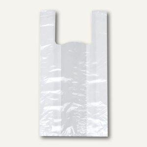 Papstar Hemdchen-Tragetaschen, LDPE, 50 x 26 x 16 cm, weiß, 2.000er-Pack, 12373