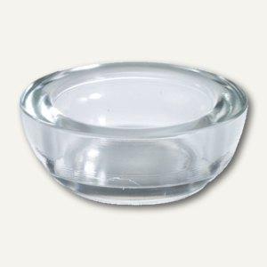 Papstar Kerzenhalter, Glas, rund, Ø 90 mm, H 33 mm, für Maxi Lichte, 12St.,13025