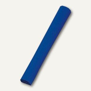 Papstar Krepppapier, 10m x 50cm, Rolle, schwer entflammbar, blau, 5er-Pack,19006
