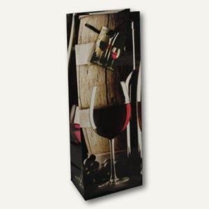 "Papstar Flaschen-Lacktragetasche ""Rotwein"", 36 x 13 x 9 cm, 50er-Pack, 16400"
