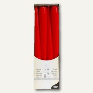 Papstar Leuchterkerzen, Ø 2.2 cm, H 25 cm, rot, 48er-Pack, 13731