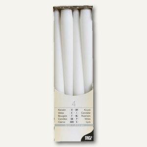 Papstar Leuchterkerzen, Ø 2.2 cm, H 25 cm, weiß, 48er-Pack, 13736