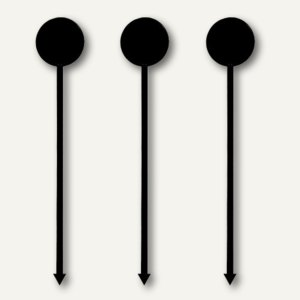 "Papstar Longdrink-Sticks ""Münze"", 17 cm, schwarz, 1.000 Stück, 81867"