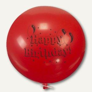 """Luftballons Maxi, Ø 67 cm, """"Happy Birthday"""" mit Verschlußclip, 12er-Pack, 18932"""