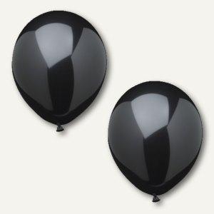 Papstar Luftballons, Ø 25 cm, schwarz, 120er-Pack, 18983