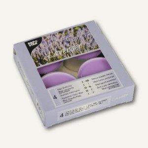 Papstar Maxi Duftlichter, Ø 59 mm, H 24 mm, violett - Lavender, 24er-Pack, 81933