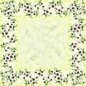 """Papstar Mitteldecke """"Olive Twig"""", stoffähnl., 80x80cm, lackiert, 15er-Pack,81088"""