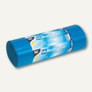 Papstar Müllsäcke, 120 Liter, 110 x 70 cm, 45 my, blau, 4 x 50 Stück, 12388