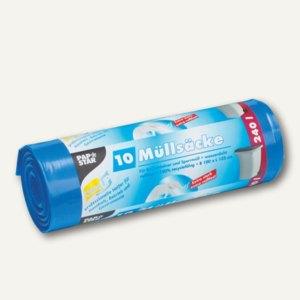 Papstar Müllsäcke, 240 Liter, 125 x 100 cm, 60 my, blau, 6 x 10 Stück, 12447