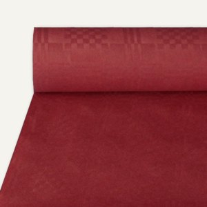 Artikelbild: Papiertischtuch mit Damastprägung 50 m x 1 m bordeaux