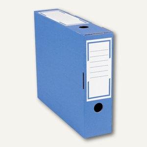 smartboxpro Archivschachtel 100, 100x265x325mm, blau/weiß, 226131220