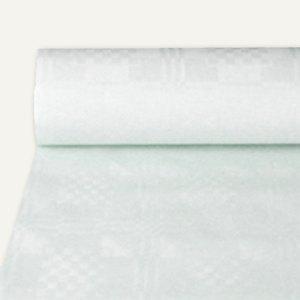 Papstar Papiertischtuch mit Damastprägung, 50 m x 1 m, weiß, 5er-Pack, 12542