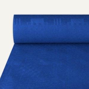 Papiertischtuch mit Damastprägung, 50 m x 1 m, dunkelblau, 4er-Pack, 12575
