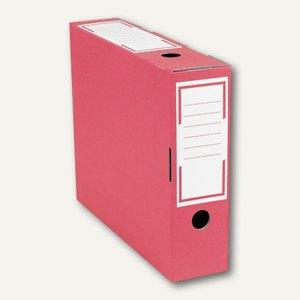 smartboxpro Archivschachtel, schmal, 80x265x325 mm, rot/weiß, 226141120