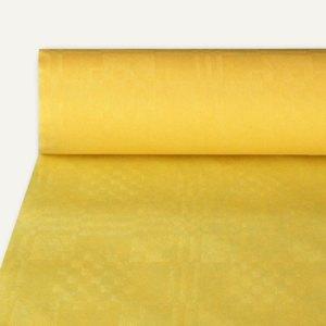 Papstar Papiertischtuch mit Damastprägung, 50 m x 1 m, gelb, 4er-Pack, 12576